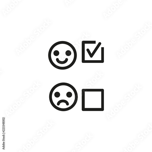 Choosing positive opinion line icon. Customer service
