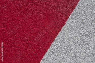 Fondo blanco y rojo/superficie granulada en un muro exterior en color blanco y verde Buy this stock photo and explore similar images at Adobe Stock Adobe Stock