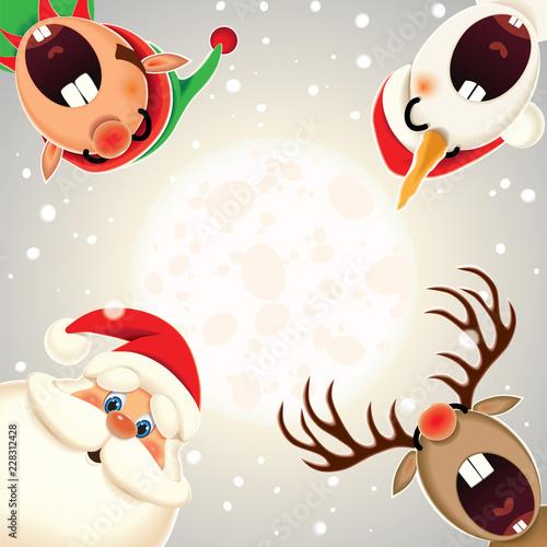 santa claus reindeer snowman