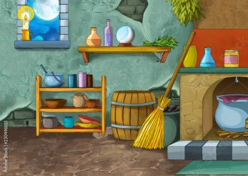 cartoon scene with medieval castle room like kitchen interior for different usage illustration for children Buy this stock illustration and explore similar illustrations at Adobe Stock Adobe Stock