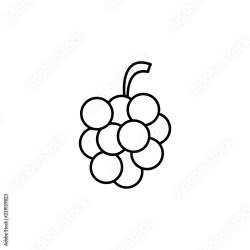grapes outline icon Element of fruits icon Thin line icon for website design and development app development Premium icon Buy this stock vector and explore similar vectors at Adobe Stock