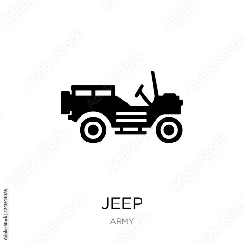 jeep icon vector on