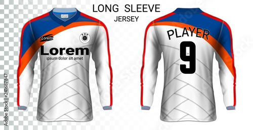 Download Long sleeve soccer jerseys, T-Shirt sport mockup template ...