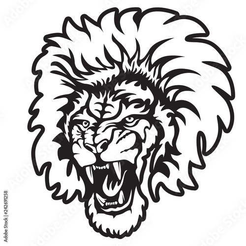 Lion Face Tattoo Drawing