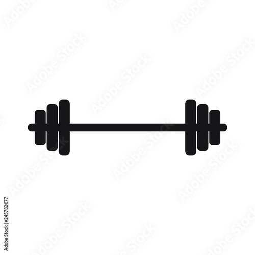 barbell vector icon buy