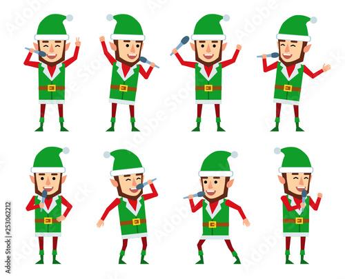 set of christmas elf