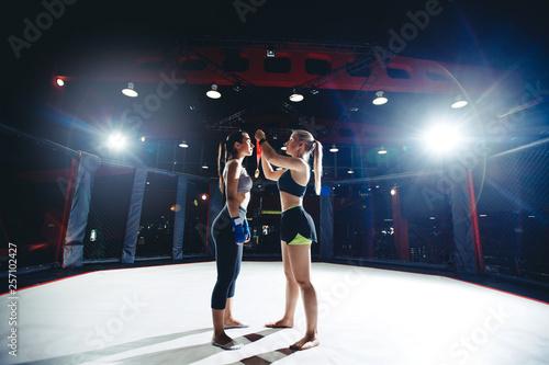 training boxing young women