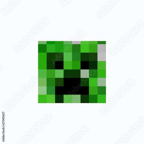 minecraft icon head cube