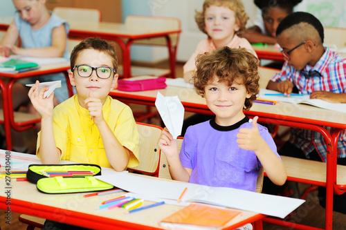 two little preschool boys