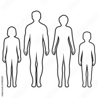 Umrisse Mensch Zeichnung   Kinder Ausmalbilder