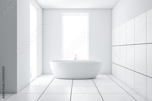 https stock adobe com uk images modern white tile bathroom interior with tub 286868824 start checkout 1 content id 286868824