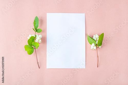 invitation card mockup template blank