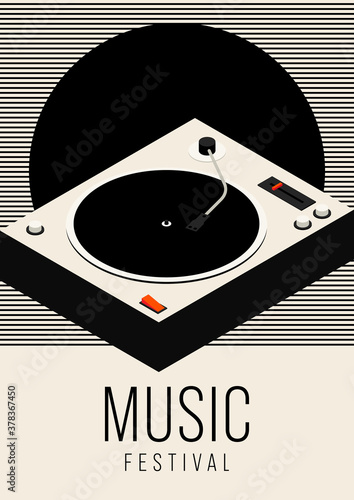 music poster design template background
