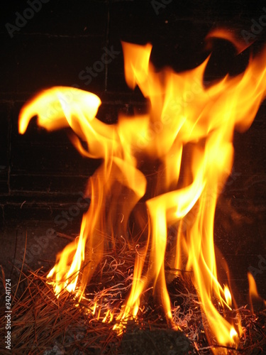 Les Flammes De L Enfer : flammes, enfer, Flammes, L'enfer, Stock, Photo, Adobe