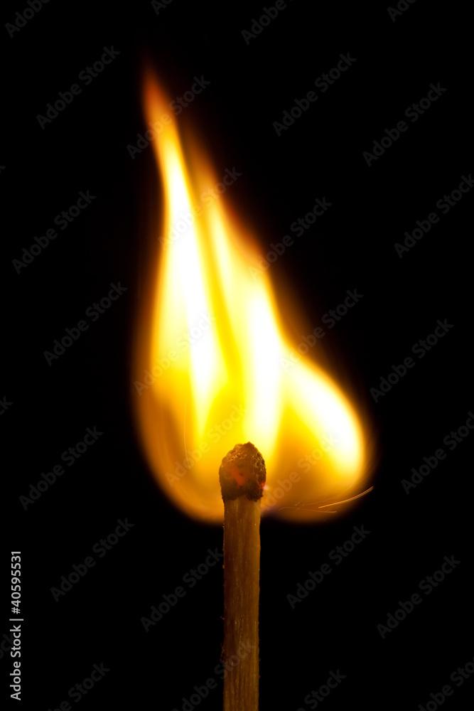 fotografie obraz burning match