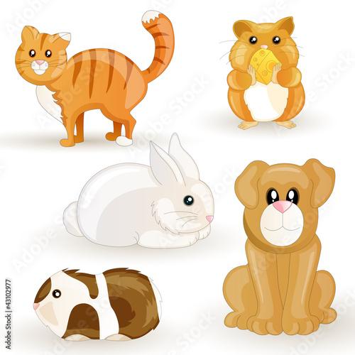 vector set of cartoon