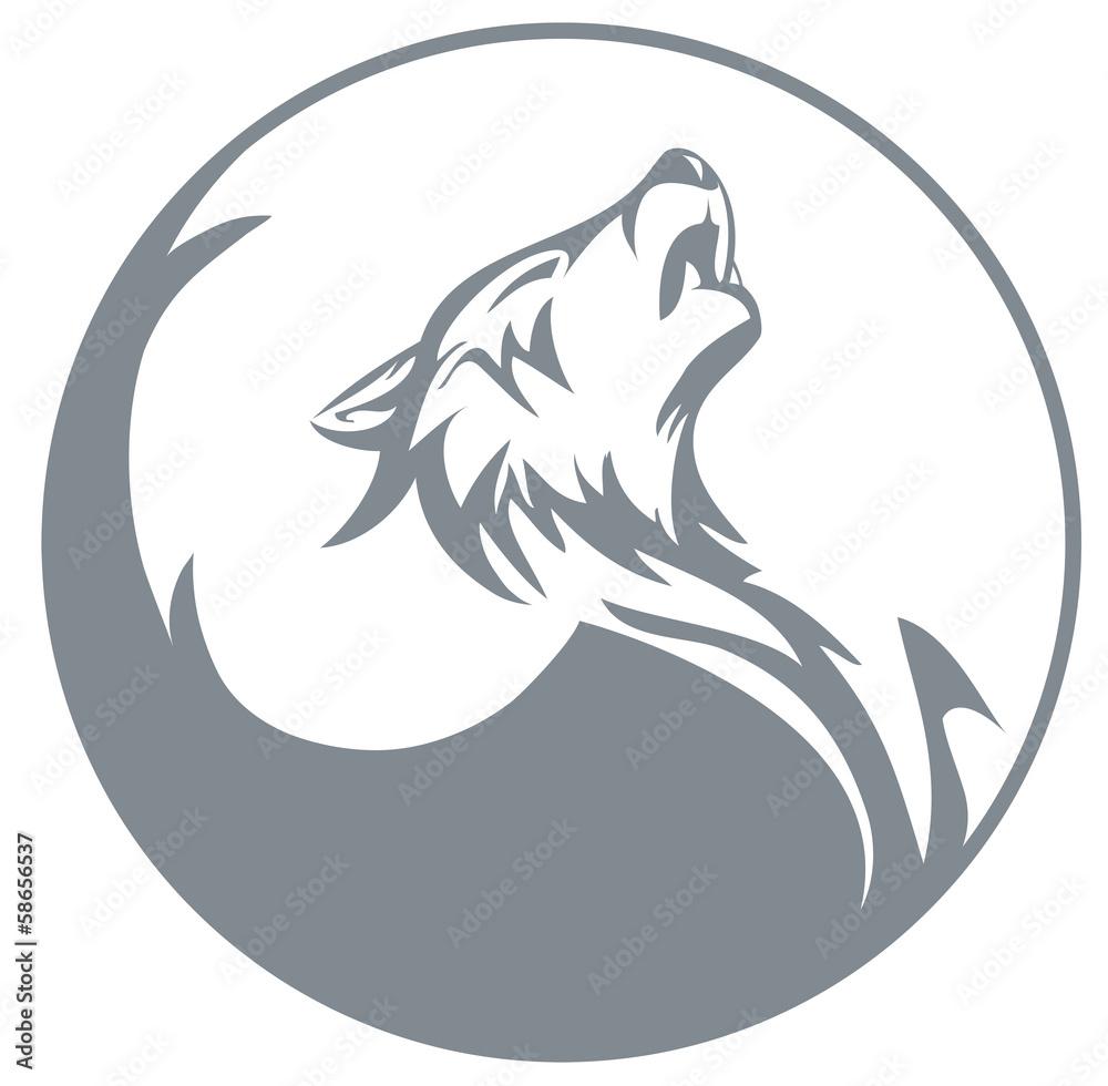 Heulender Wolf Zum Ausmalen - Malvorlagen