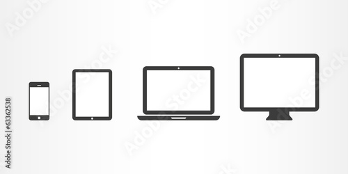 Device icons: smartphone, tablet, laptop and desktop