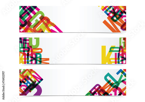 typography colorful banner header