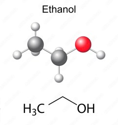 photo art print structural chemical formula and model of ethanol molecule europosters [ 1000 x 1000 Pixel ]