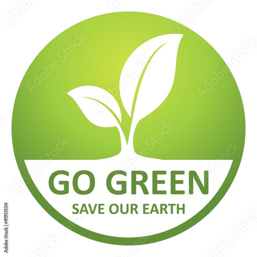 Go Green Save Our Earth Icon Environmental Conservation And Protection Of Our World Buy This Stock Vector And Explore Similar Vectors At Adobe Stock Adobe Stock