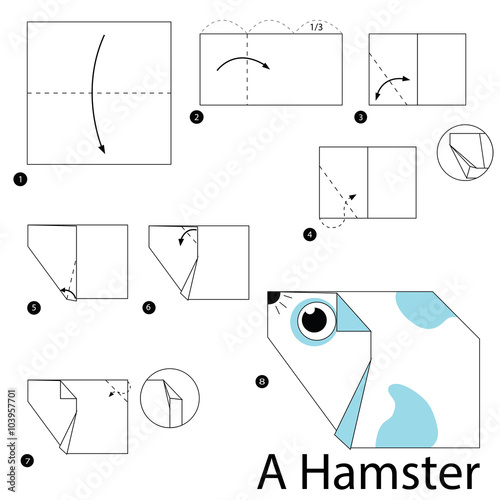 step by step instructions how to make origami A Hamster