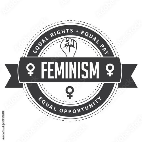 feminism symbol circular badge