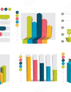 Set of charts graphs simply color editable infographics elements also rh stockobe