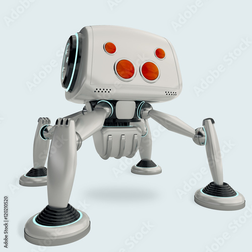 white robot spider with