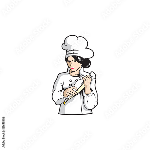 female girl woman bakery