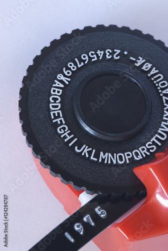 Old Label Maker : label, maker, Fashioned, Punch, Ribbon, Label, Maker, Stock, Photo, Adobe