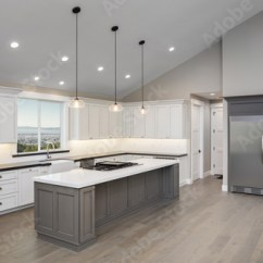 Large White Kitchen Island Virtual Remodel Amazing New Contemporary With And Grey Counter Tops