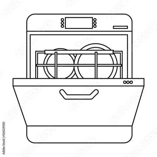 dishwasher icon in outline