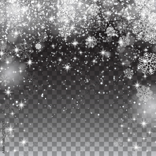 Free Christmas Falling Snow Wallpaper Snow Snowflakes On A Transparent Background Falling