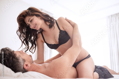 Romantic Young Couple Enjoying Sensual Foreplay