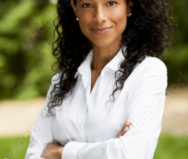 Mature Black Woman Smiling At The Camera