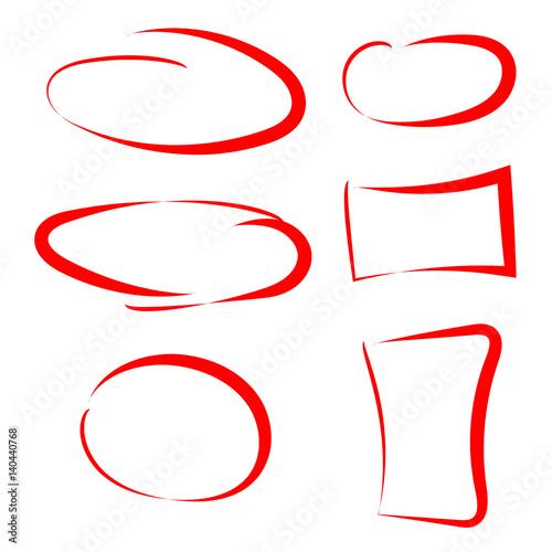 hand drawn circle and