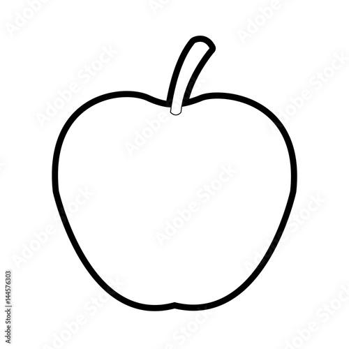 apple fruit icon image vector illustration design bold