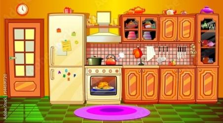 cartoon kitchen interior Buy this stock vector and explore similar vectors at Adobe Stock Adobe Stock