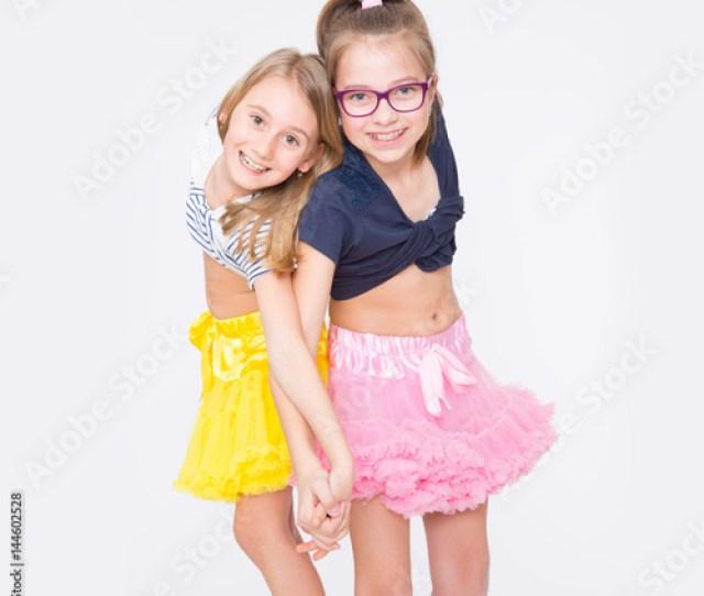 Playful Young Naughty Sisters Having Fun