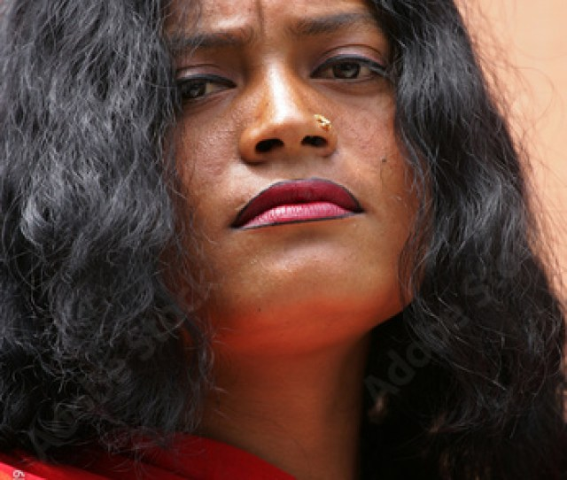 An Indian Sex Worker Waits For Clients Outside A Brothel In The Northeastern Indian City Of