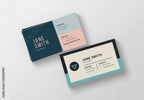 watermarked business cards