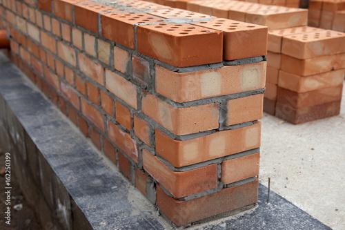 brick wall construction of