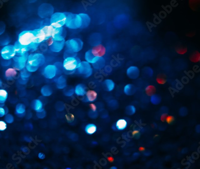Abstract Blur Light Bokeh Blue And Red Blurred Glittering Shine Night Background