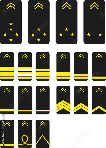Grade De La Gendarmerie : grade, gendarmerie, Grades, Galons, Gendarmerie, Nationale, France, Stock, Vector, Adobe