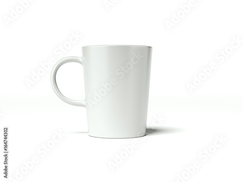 white blank cup 3d
