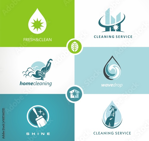 cleaning service creative concept