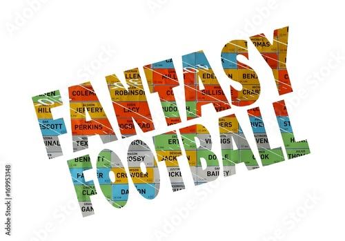 colorful fantasy football sign