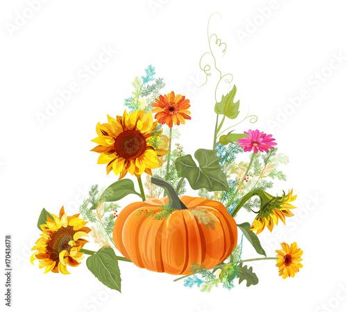 horizontal autumn border orange