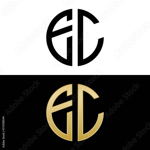 ec initial logo circle